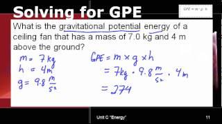 Solving for Gravitational Potential Energy (GPE)