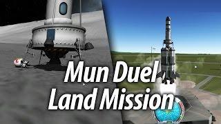 Mun Landing on Two Biomes (Beginner Tutorial: Part 8) - Kerbal Space Program (KSP) 1.1 Stock Career