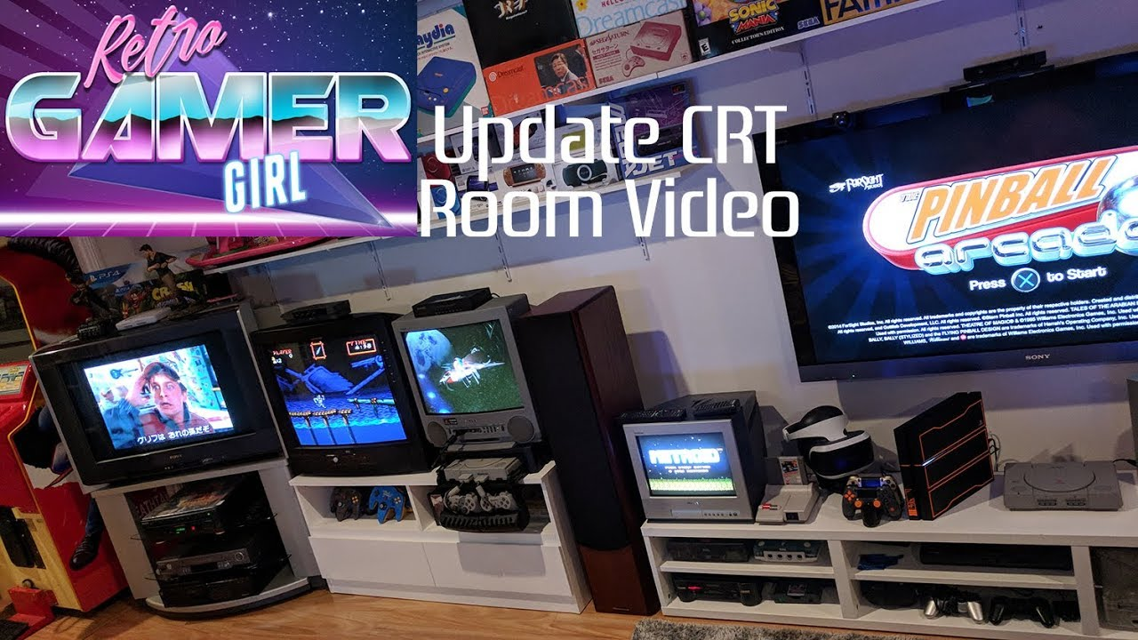 Sony CRT Setup with Nintendo & PlayStations Games Room Update | Retro Gamer  Girl