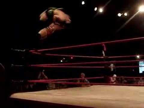 BJ Turner Superplex on JiggleOCaptain Canada Flying Elbow