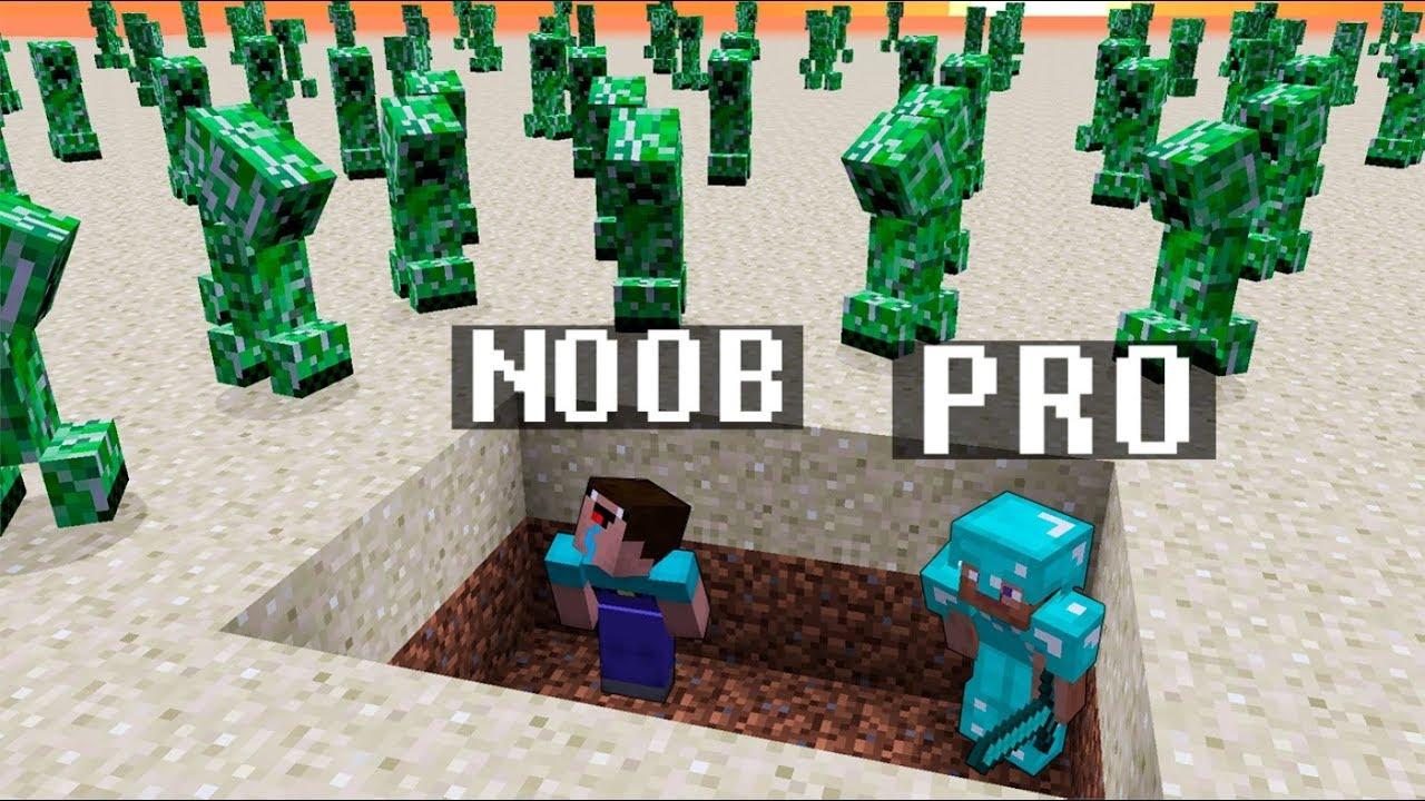 Minecraft noob vs pro creeper apocalypse challenge - Minecraft zombie vs creeper ...