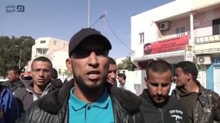 مصر العربية |  محتجون تونسيون يقطعون الطريق أمام شاحنات النفط والغاز