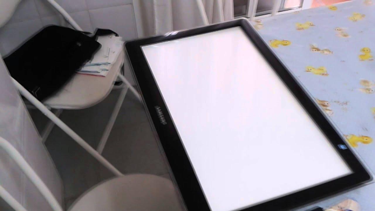 87 mesa de calco casera diy invento casero youtube for Mesa de luz para dibujo