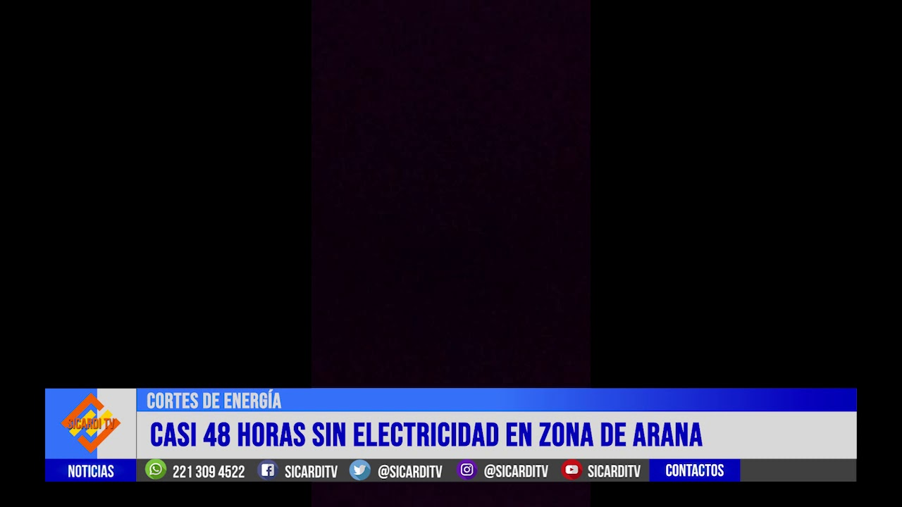 Videos de la Gente: casi 48 hs sin luz en zona de Arana