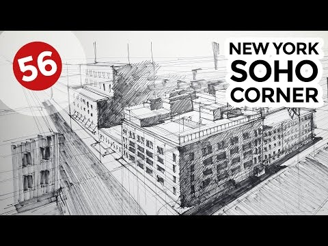New York Soho Corner | Architecture Drawings #56