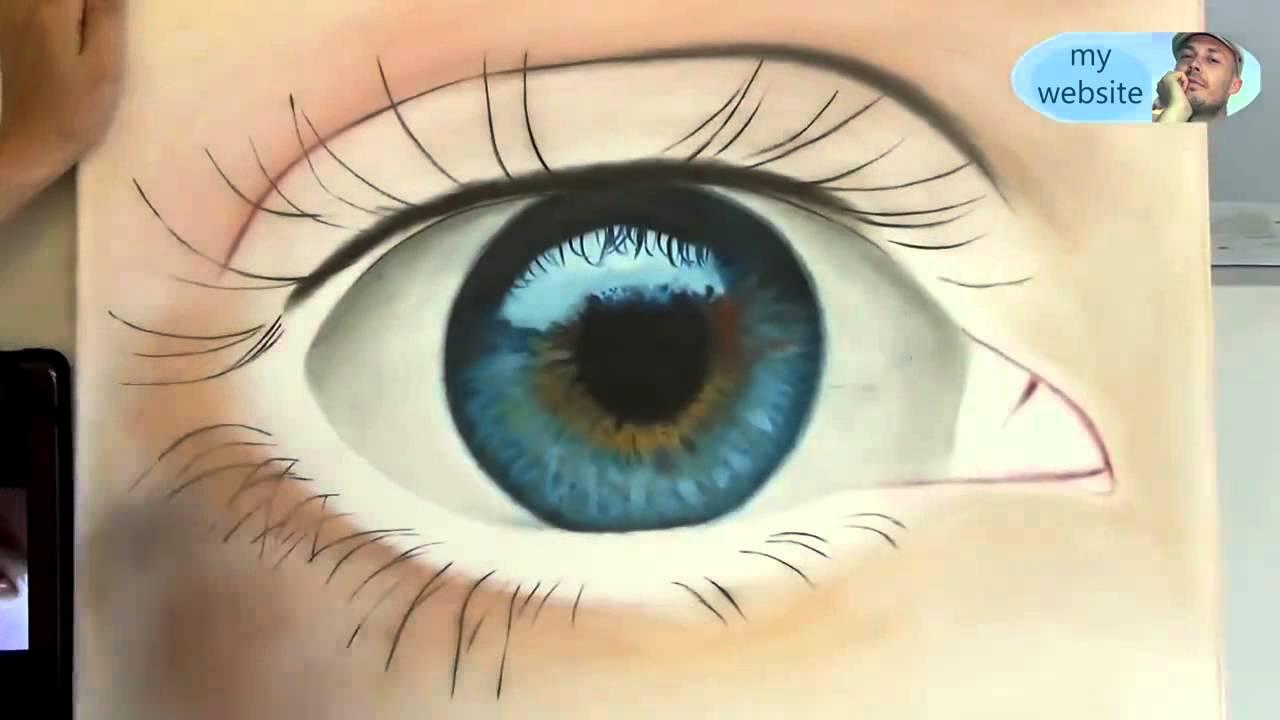 Peinture Dans L Oeil zobir ferhat / l'œil de peinture au pinceau - youtube