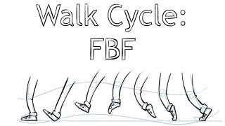 How To Animate - Walk Cycle FBF (Frame by Frame)