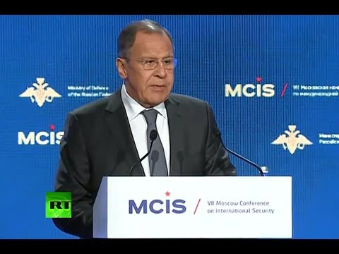 Lavrov speaks at Moscow Conference on Intl Security (Streamed Live)