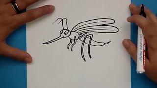 Como dibujar un mosquito paso a paso | How to draw a mosquito