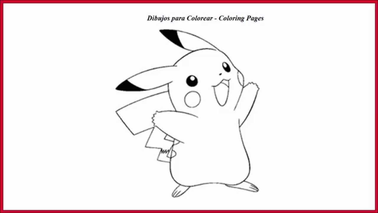Dibujo para colorear pikachu l Drawing coloring pikachu ...