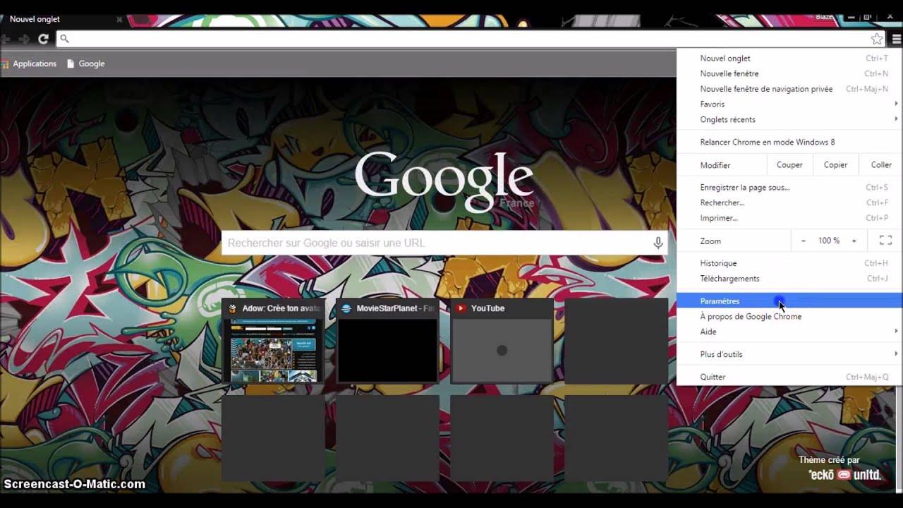msp - comment mettre une image de fond sur google