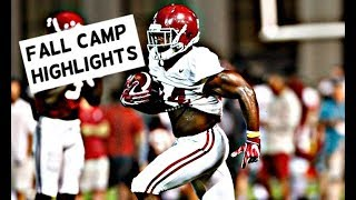 Alabama football fall camp highlights - Watch running backs Damien Harris and Josh Jacobs