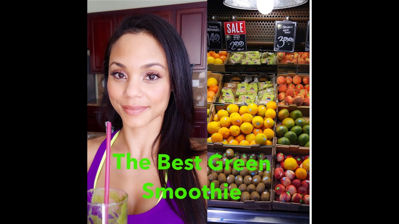 The Best Green Smoothie Recipe For Weight Loss Clear Skin And Shiny Hair Youtube
