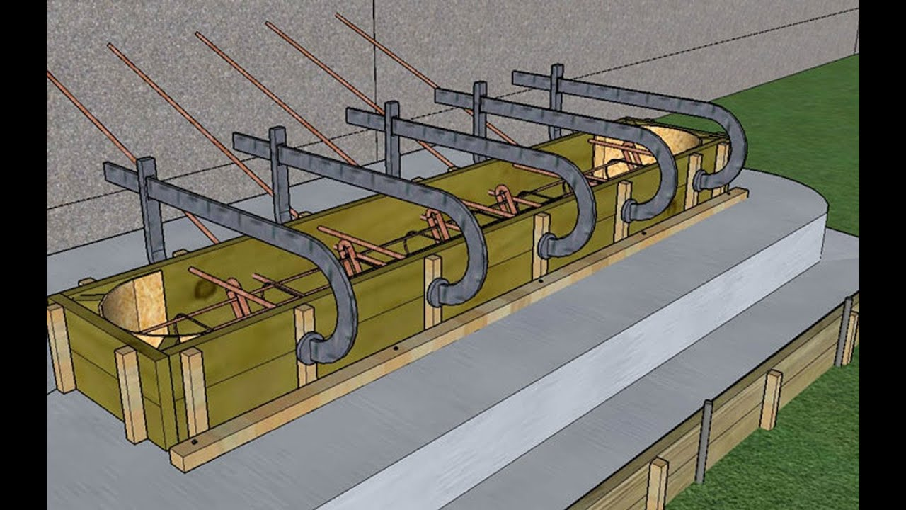 Construire un escalier en b ton mod lisation 3d youtube for Fabriquer un escalier exterieur en beton