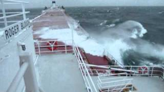 Great Lakes Freighter Roger Blough in Heavy Seas on Lake Superior