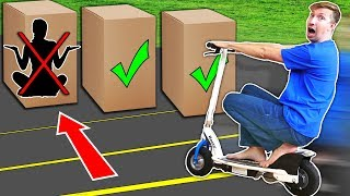 RUN OVER Hiding Person in the Box Challenge!