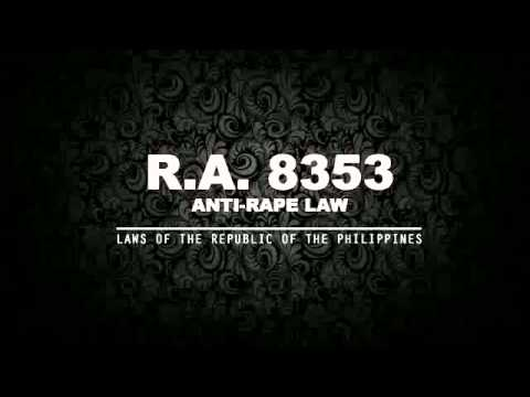RA 8353: ANTI-RAPE LAW