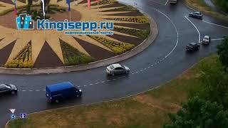 Новый ШЕДЕВР на кольце Видео момента ДТП в Кингисеппе с веб-камеры KINGISEPP.RU