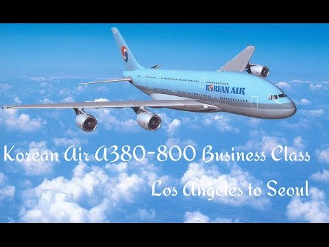 Korean Air Prestige Class - Business Class Los Angeles to Seoul