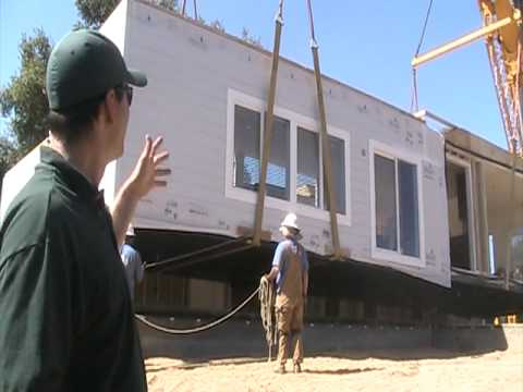 Gold Country California Modular Home Set 8 – Setting the 2nd modular home section