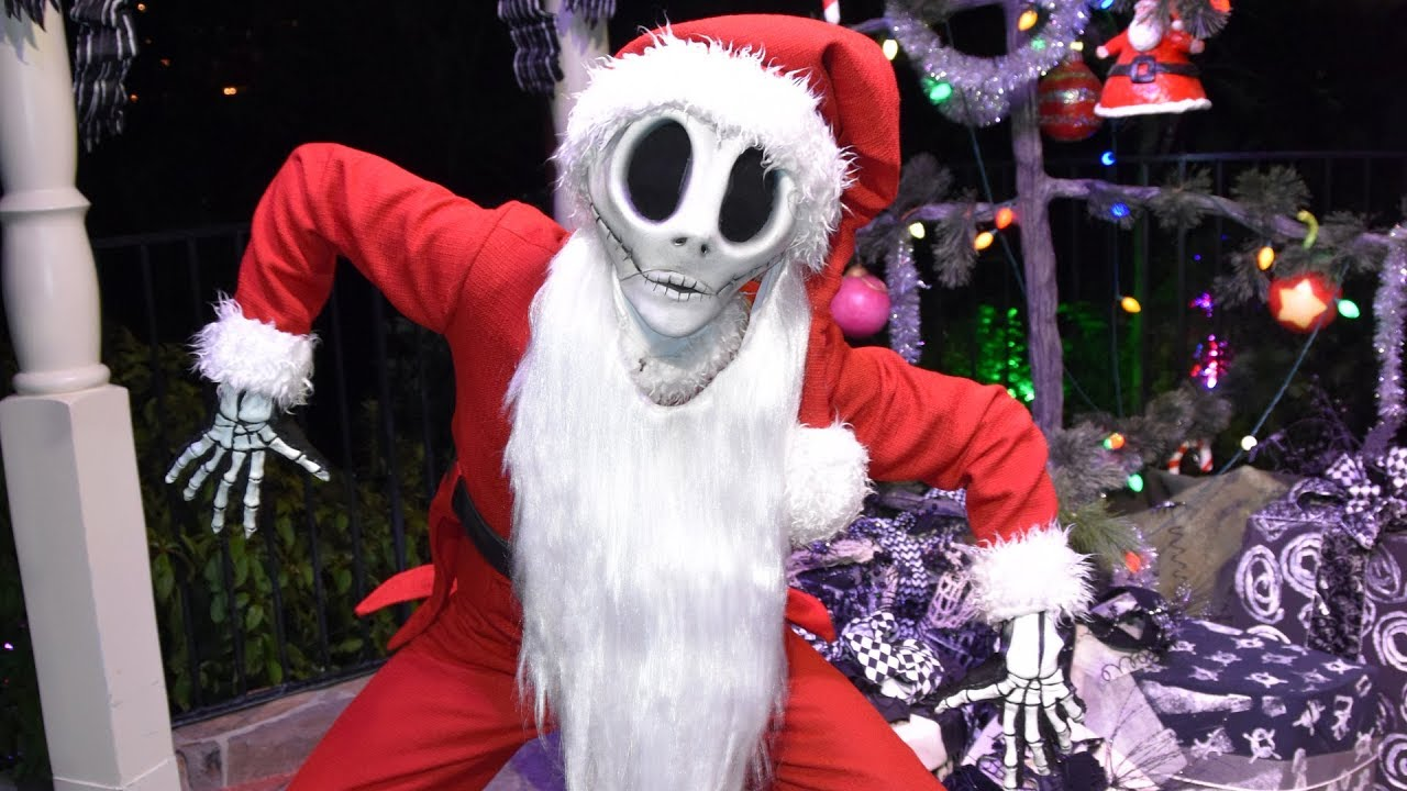 jack skellington as sandy claws meet greet at mickeys very merry christmas party 2017 - Christmas Jack Skellington