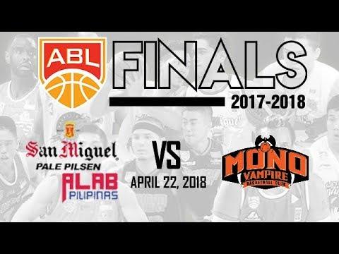 Live ABL Game 1 Finals: Alab Pilipinas vs. Mono Vampire (April 22, 2018)