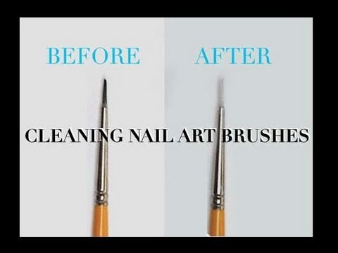 Quick Tip How To Clean Nail Art Brushes Youtube