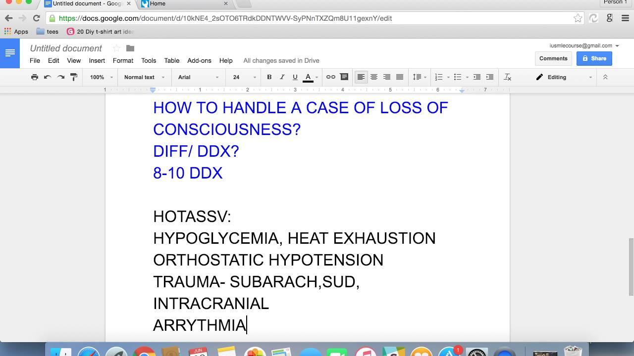 USMLE Step 2 CS: LOSS OF CONSCIOUSNESS DDX
