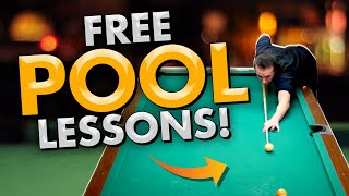 FREE POOL LESSONS! - 2 MILLION VIEWS!-  8 ball 9 ball tips and tricks!