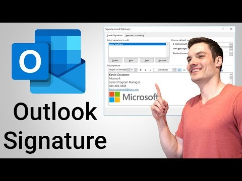How to set up email signature on outlook