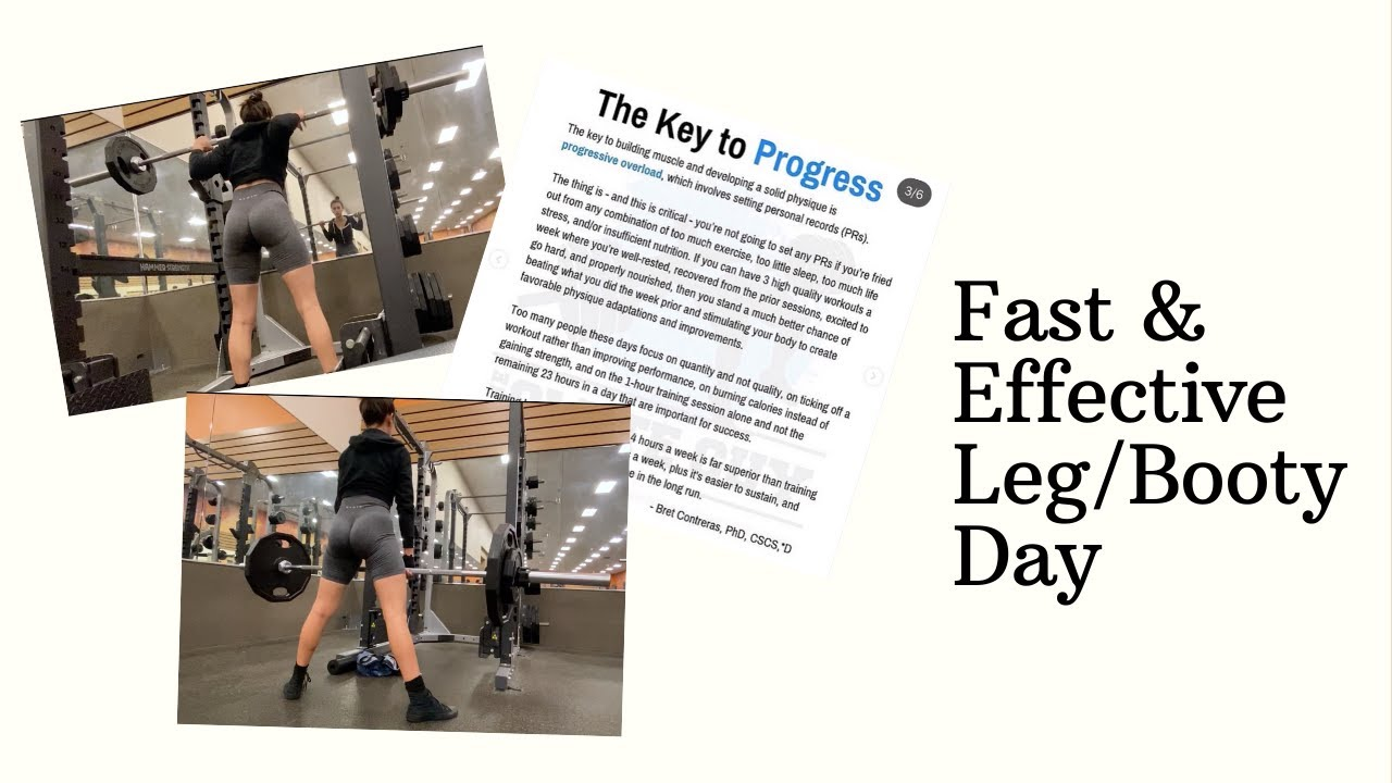 Less is More Leg/Booty Workout