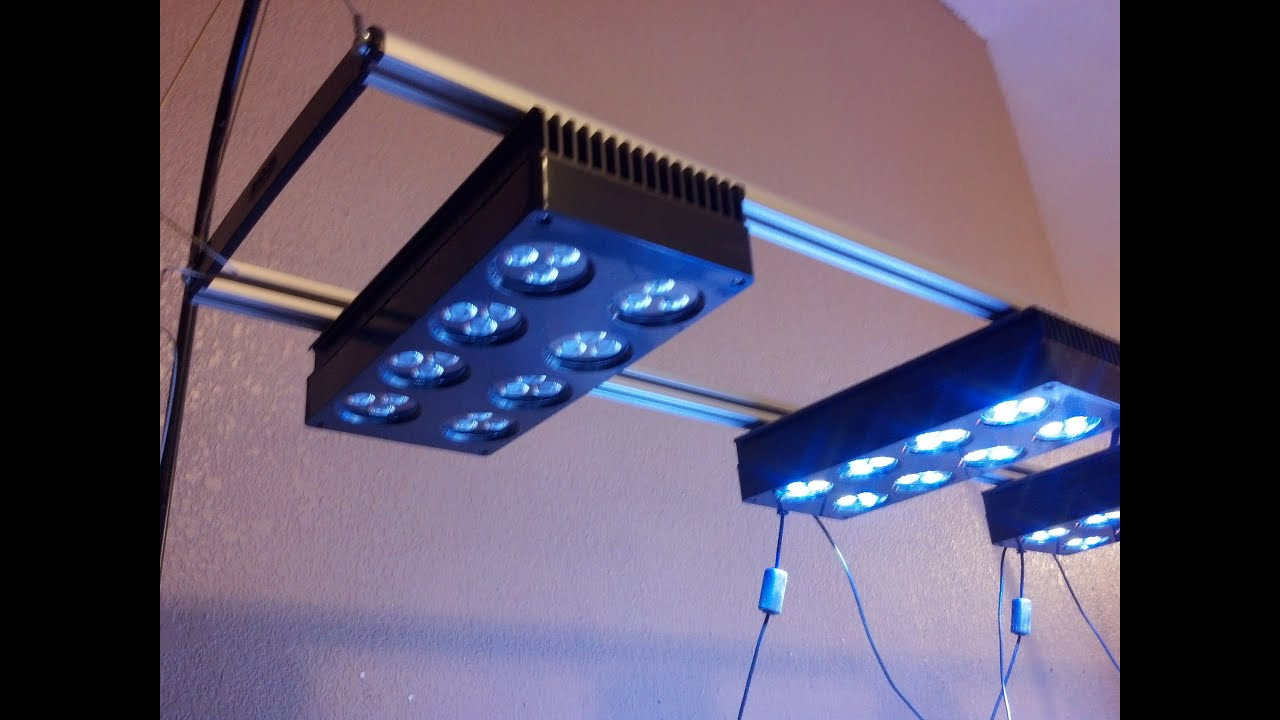 SALTWATER REEF TANK (NANO/BIG TANKS) LED LIGHTING STAND!   YouTube