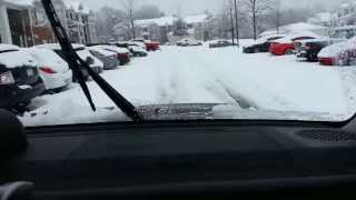 Snow Storm in Charlotte NC, 2/13/2014