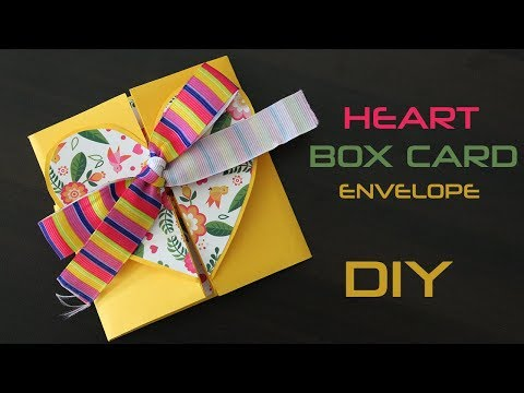 Heart Box Card | Heart Box For Boyfriend/Girlfriend | DIY Envelope