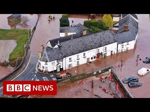 Storm Dennis: See the damage from above - BBC News