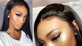 One of estareLIVE's most viewed videos: HAIR | GLUELESS LACE FRONTAL WIG INSTALLATION!
