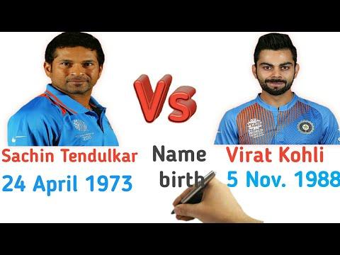 Sachin Tendulkar Vs Virat Kohli Comparison 2017   Biography   ind vs aus match 10/10/2017 T20 match