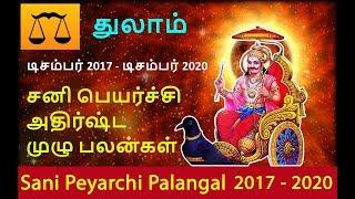 Thulam Rasi Sani Peyarchi Palangal 2017 2020