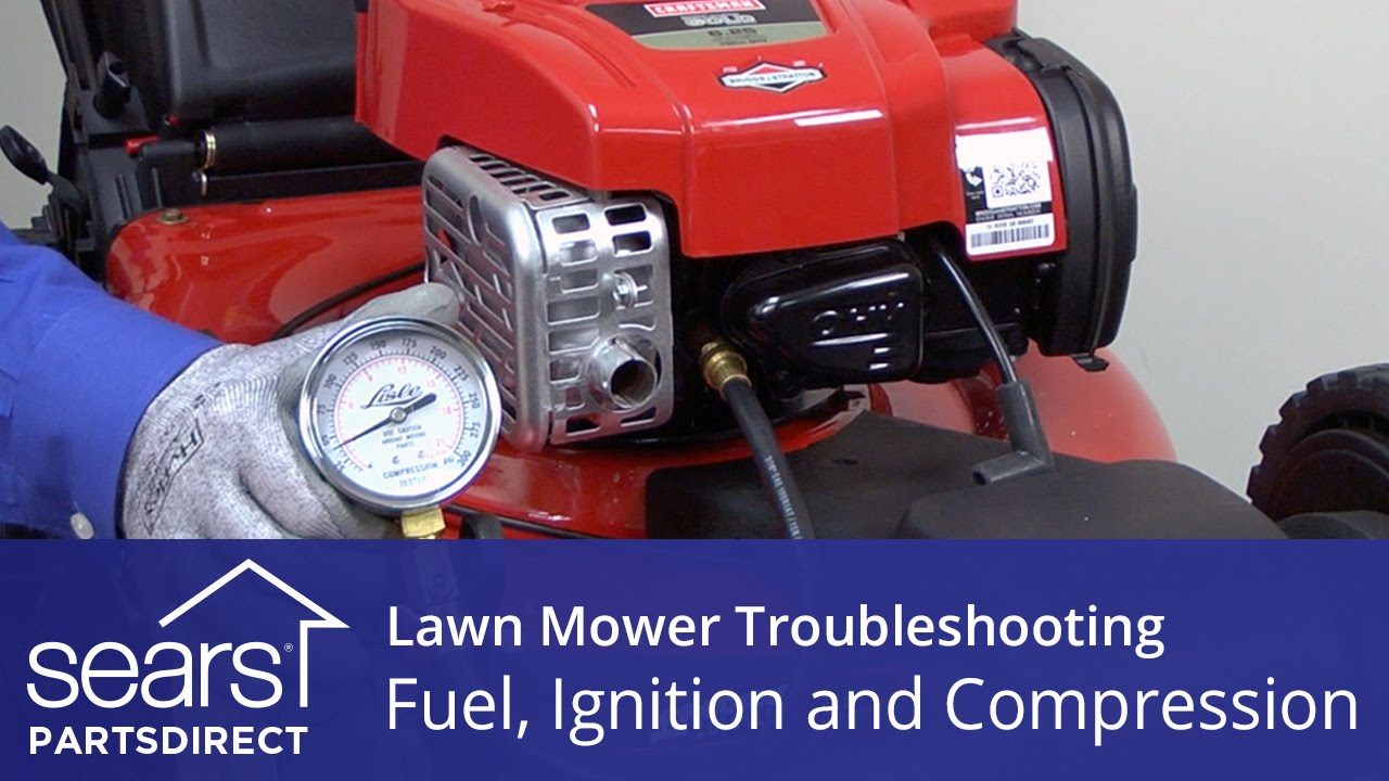 medium resolution of lawn mower won t start fuel ignition and compression problems youtube