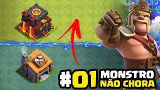 EVOLUÇÕES NO CLASH - #01 Monstro NÃO chora | CLASH OF CLANS 2018