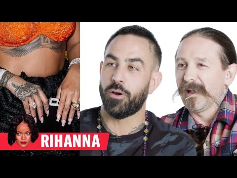 faca6d6ea60a0 Tattoo Artists Critique Rihanna, Justin Bieber, and More Celebrity Tattoos  : videos