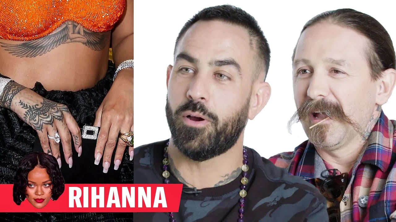 Tattoo Artists Critique Rihanna Justin Bieber And More Celebrity Tattoos Gq