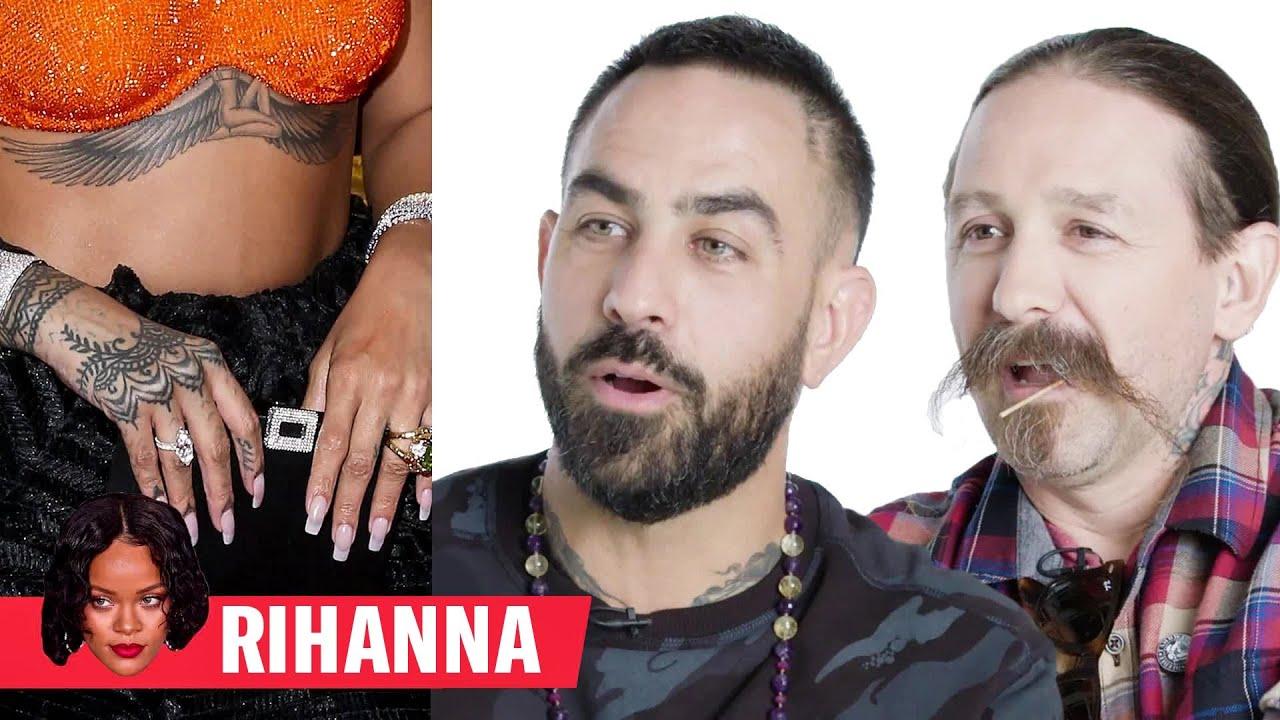 Tattoo Artists Critique Rihanna, Justin Bieber, and More Celebrity Tattoos | GQ 9