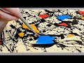 Abstract Acrylic Painting Techniques on Canvas for Beginners | Jackson Pollock Style | Work #51