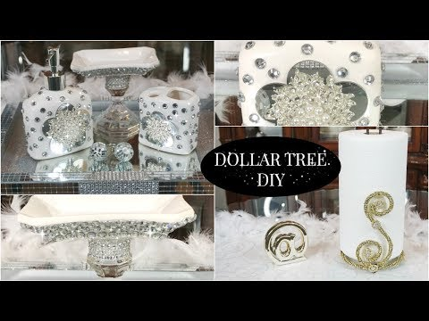 DOLLAR TREE DIY BATHROOM DECOR | DIY GLAM HOME DECOR IDEAS 2019✨