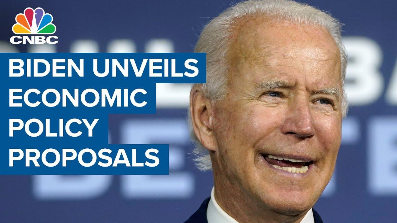 Former vice president Joe Biden unveils set of economic policy proposals
