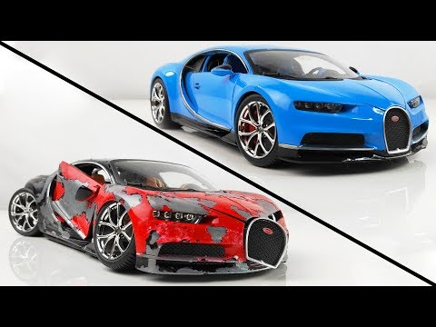 Restoration Damaged Bugatti Chiron Super Car Model Car in 10 Minutes