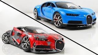 Restoration Damaged Bugatti Chiron Super Car Model Car in 10 Minutes