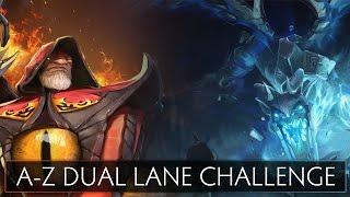 Dota 2 A-Z Dual Lane Challenge - Visage and Warlock