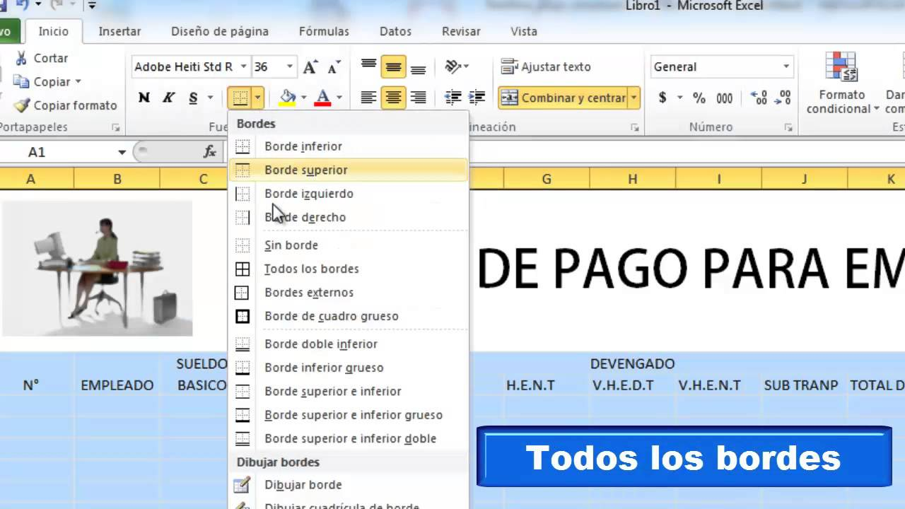 Nomina de pago en excel youtube for Nomina de trabajadores en excel